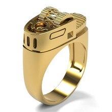 Новинка 2021, модные готические кольца в стиле хип-хоп, рок, панк, золотые зажигалки для мужчин и женщин, ювелирные изделия, винтажное дизайнер...