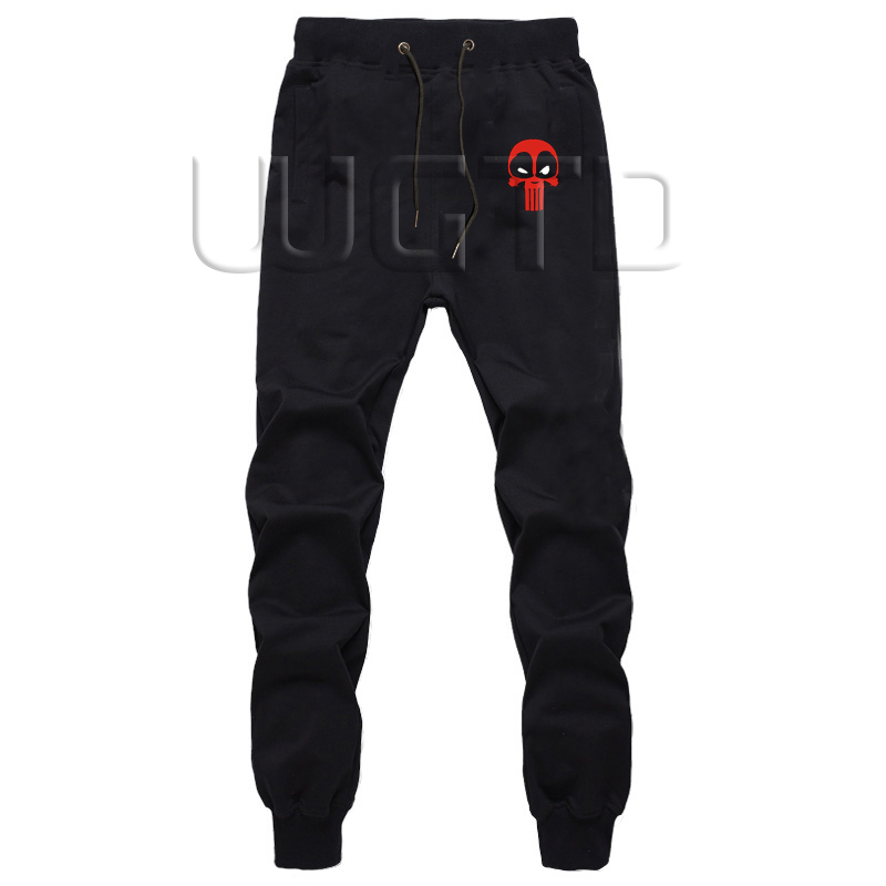 Superhero Pants Men Casual Trousers Joggers Bodybuilding Fitness Long Pants Autumn Winter Fashion Sweatpants Plus Size