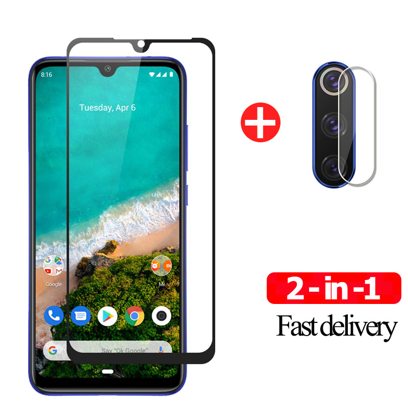 2 in 1 <font><b>Camera</b></font> Lens Film 9H Tempered Glass For <font><b>Xiaomi</b></font> <font><b>Mi</b></font> A3 Screen <font><b>Protector</b></font> <font><b>Mi</b></font> A3 Glass <font><b>Xiaomi</b></font> <font><b>Mi</b></font> A 3 A2 Lite Protective Glass image