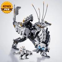 Moc gioco popolare Horizon Zero dawted Thunder mascella blocchi meccanico mostro azione drago dinosauro Building Block bambino ragazzo giocattolo
