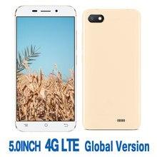 5.0 inç ekran 4G LTE küresel sürüm akıllı telefonlar için 8t 2G RAM + 16G ROM 2MP + 5MP HD ön/arka kamera Android cep telefonu celulares