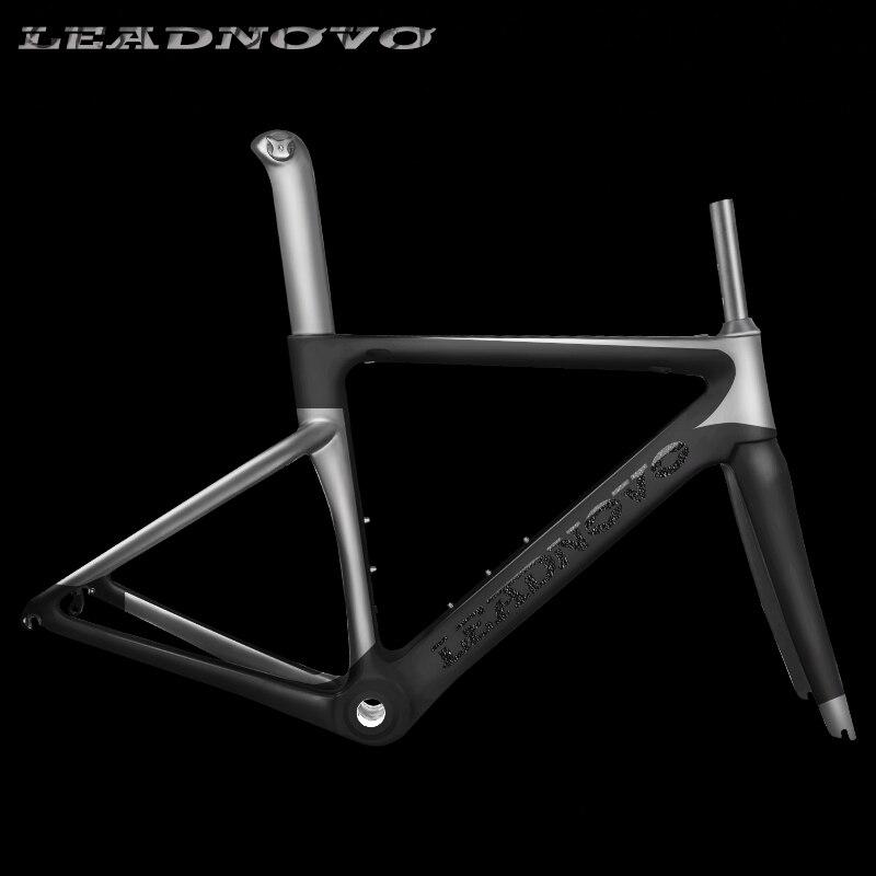 Personalizado 2019 novo quadro de estrada de carbono corridas quadro de bicicleta de fibra de carbono brilhante fosco BSA BB30 para DI2 Mecânica quadro