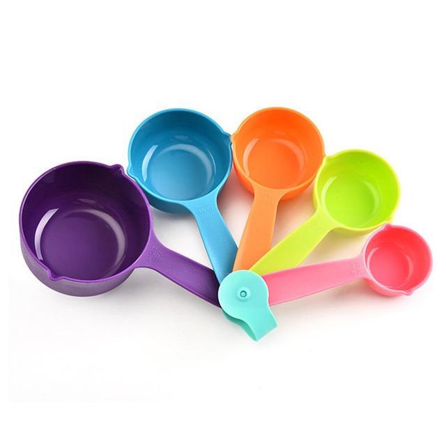 5 шт Пластиковые мерные стаканы ложка совок кухонный инструмент для приготовления пищи посуда для выпечки