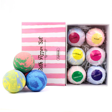 1 Box Moisturizing Bath Bubble Bomb Ball Set Fragrance Relieve Stress Bath Salt Exfoliation Anti-fatigue Skin Care Products