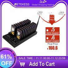 Retekess T112 Restaurant Pager With 20 Pager Receivers Support Max 999 Beepers For Restaurant Wireless Paging Queuing System