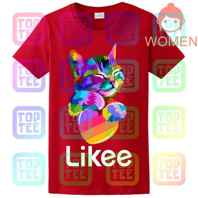 likee app t-shirt likee heart cat shirt 2019 cool t shirt fun tee 4