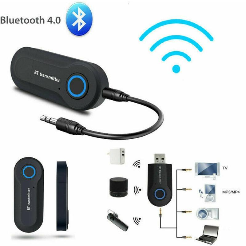 3.5mm AUX Hifi Music Audio Adapter 2 In 1 Bluetooth 5.0 Transmitter Receiver TV PC Car Speaker Headphones Car Home Stereo Device