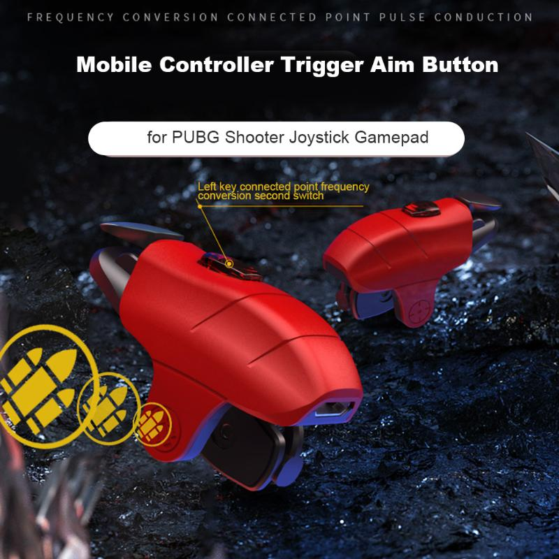 2pcs Mobile Controller Trigger Aim Button for PUBG <font><b>Shooter</b></font> Joystick Gamepad Professional Smart Mobile Phone Gaming Accessories image