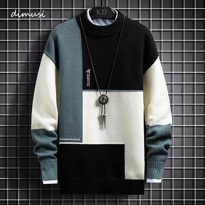 DIMUSI automne hiver hommes pulls en cachemire mode chaud coupe ajustée pull pull homme laine tricoté pull pulls vêtements