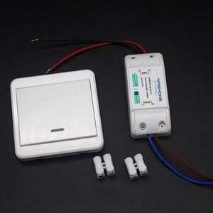 Image 2 - Interrupteur RF 433Hz sans fil interrupteur à distance 90 260V lampe lumière télécommande interrupteur ON OFF fil récepteur mural (vendu séparément)