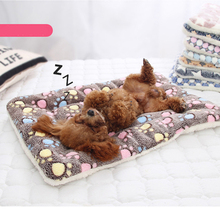 Pet Blanket Dog Bed Cat Mat Soft Flannel Cover Dog Cushion Thickened Winter Warm Sleeping Beds For Puppy Dog Cat Pet