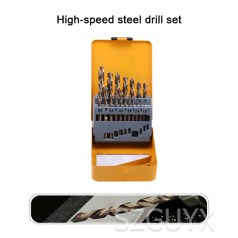 Industrial Multi-specification Drill Set Tool Cobalt Twist Drill Set Straight Handle Hit Stainless Steel Iron Drill