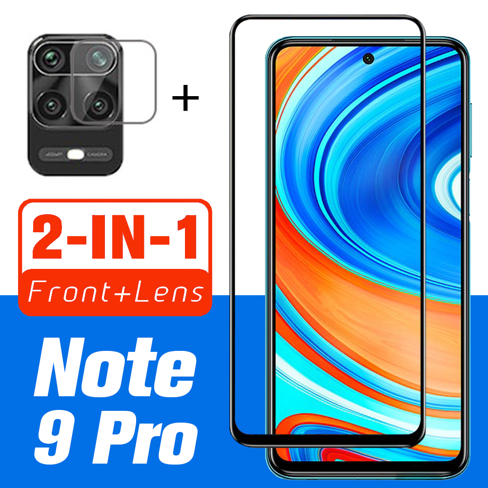 2 in 1 Protective Glass For Xiaomi Redmi Note 9s Pro Max Camera Screen Protector Lens Tempered Glass On Redmi Note 9s 9 Pro Max(China)