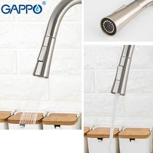 Image 4 - GAPPO paslanmaz çelik dokunmatik kontrol mutfak musluk akıllı sensör mutfak mikseri dokunmatik musluk mutfak Pull Out lavabo TapsY40112