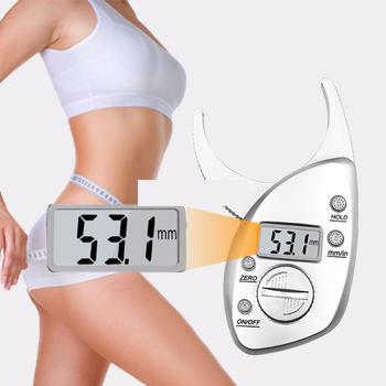 Przyrząd do mierzenia tkanki tłuszczowej Tester wagi Fitness monitory analizator cyfrowy Skinfold odchudzanie przyrządy pomiarowe elektroniczny środek tłuszczu tanie i dobre opinie TMISHION Approx 11 * 6 5cm 4 3 * 2 6inch Tkanki tłuszczowej monitory Body Fat Testers 0 - 50mm 0 - 2 0inch 0 1mm 0 01inch