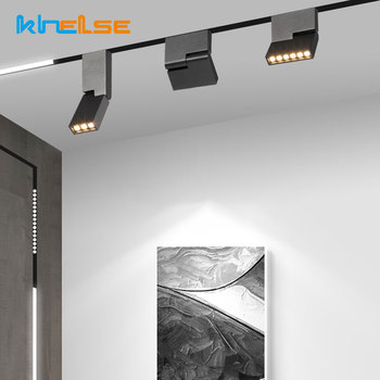 Adjustable Magnetic LED Track Lights Spotlight Rotatable Ceiling Rail Lamps Clothe Store Indoor Lighting Fixture Home Decoration