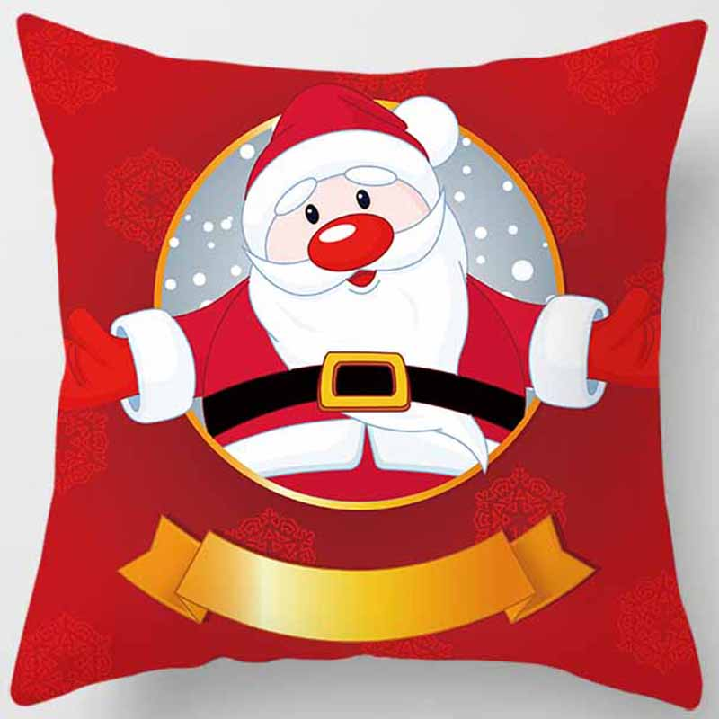 Hot sale beautiful christmas pillow case pretty cute square pillow cases high definition pillow cover 45 45cm in Pillow Case from Home Garden