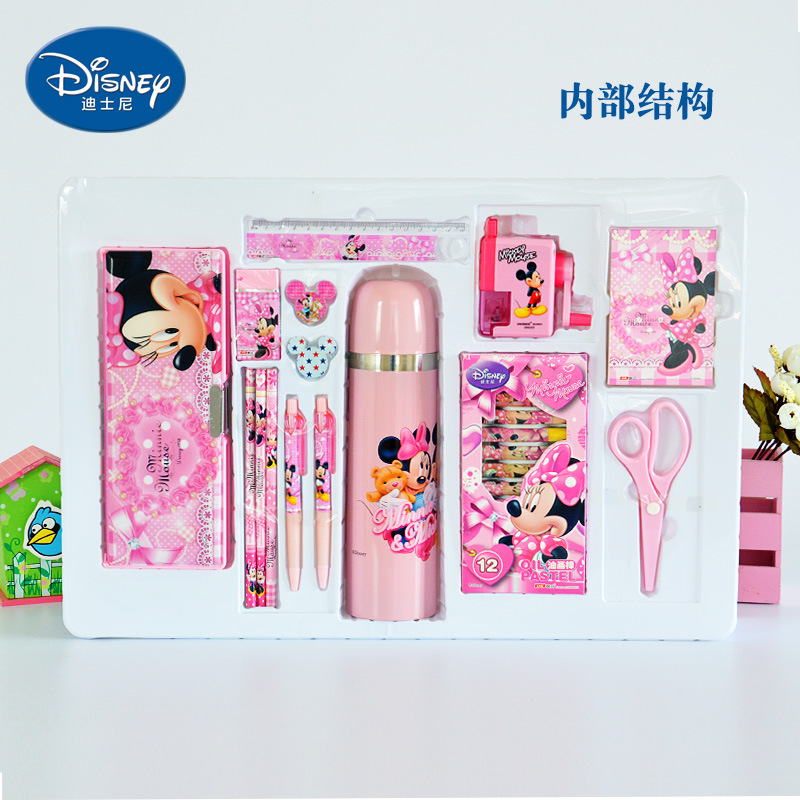 UME Luxury Stationery Set Gift Box Mickey Children Insulated Cup Gift Box Young STUDENT'S Learning Gift Packs