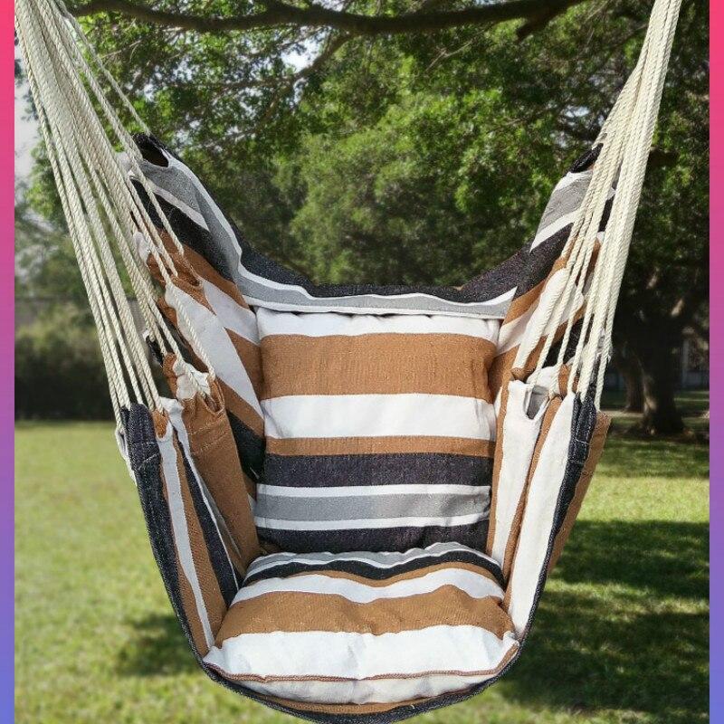 Outdoor Hammock Student Dormitory Single Lazy Rocking Chair Cloth Art Balcony Park Hanging Chair Hammock Garden Chair