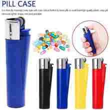 Mini caixa de proteção para pílulas, chaveiro organizador de medicamentos à prova d'água para remédios, ferramentas de saúde