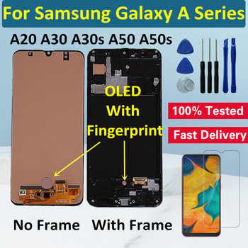 OLED With Frame LCD Display For Samsung Galaxy A20 A30 A30S LCD Screen Display Touch Digitizer For Samsung A50 A50S LCD Screen for samsung galaxy s3 tft lcd display lcd touch screen digitizer assembly with frame for samsung galaxy s3 i9300 i9300i i9308i
