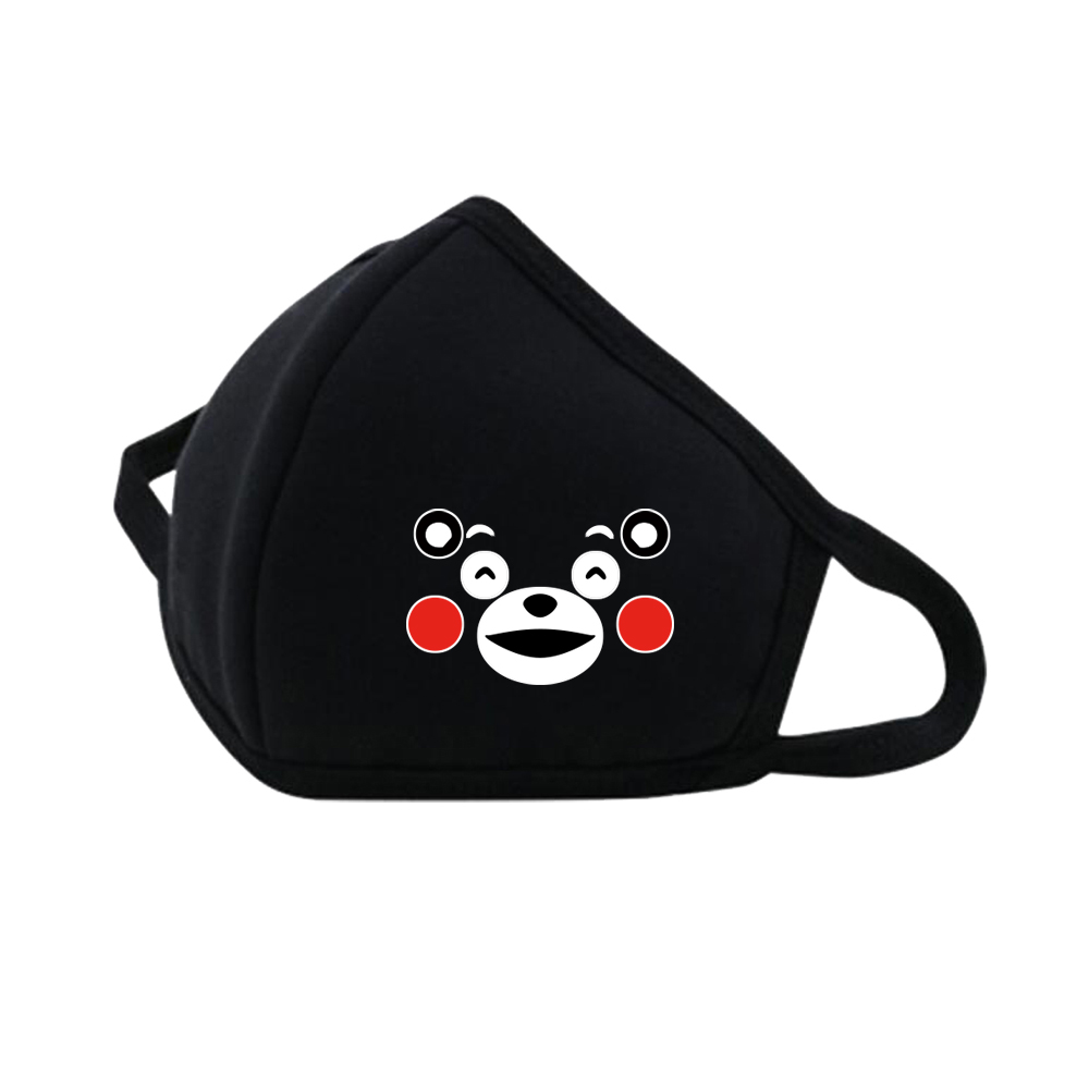 Cut Cartoon Kumamon Masks Mouth Face Mask Dustproof Breathable Protective Cover Masks Respiratory Reusable Care Mask