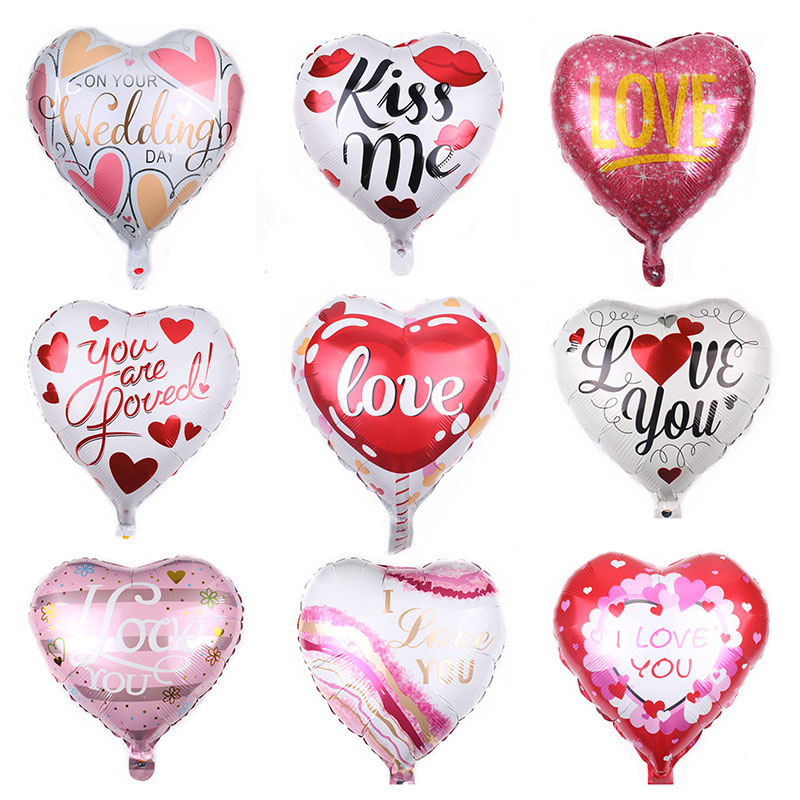 I Love You Heart Foil Balloons Helium Air Ball Wedding Marriage Decoration Engagement Anniversary Bachelor Party Supplies
