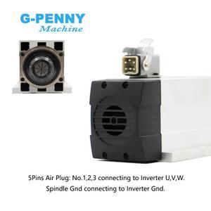 Image 4 - جديد وصول! 6.0kw تبريد الهواء المغزل ER32 300Hz 220 فولت/380 فولت مع تصاعد شفة 4 قطعة الكرات السيراميك 0.01 مللي متر الدقة