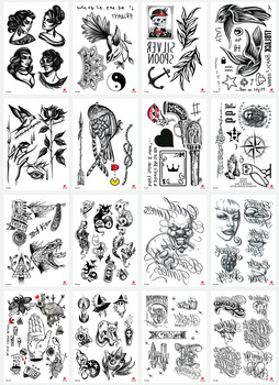 1pcs A variety of simple styles flower and bird tattoo stick aesthetic waterproof arm eco-friendly