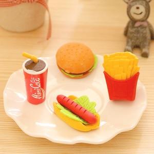 1 шт. креативный фаст-фуд бургер хот-дог чипы ластик для студентов канцтовары оптом