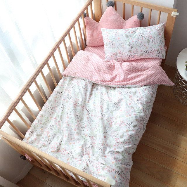 Baby Bedding Set Boy Girl Soft Cotton Kid Bed Linen Kit For Children Crib Bedding Baby Items For Room Decoration Custom Size