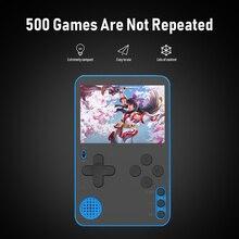 RS 60 رقيقة جدا الرجعية لعبة لاعب المحمولة 2.4 بوصة وحدة تحكم بجهاز لعب محمول مع 500 ألعاب لا تكرار الرجعية لعبة فيديو وحدة التحكم