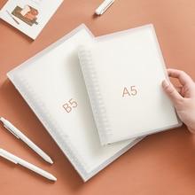 A5 B5 Translucent Binder Notebook Planner Organizer Paper Inner PageDiary Bullet Journal Stationery School Supplies