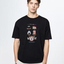 Male Clothing Shirts Streetwear Man Fashion Cartoon Sushi Image Foodie-Taste-Types Harajuku