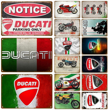 Ducati Motorcycle Plaque Metal Vintage Tin Sign Shabby Chic Decor Metal Signs Vintage Bar Decoration Metal Poster Metal Plate