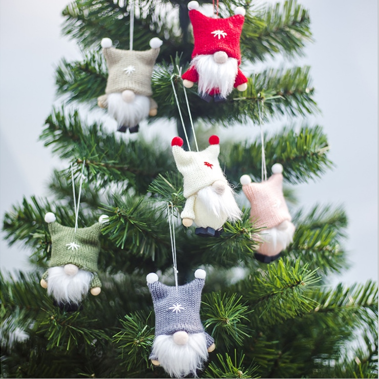 NEW Merry Christmas Doll Toys Christmas Tree Hanging Ornament Decoration For Home Xmas Party Navidad Christma Gift