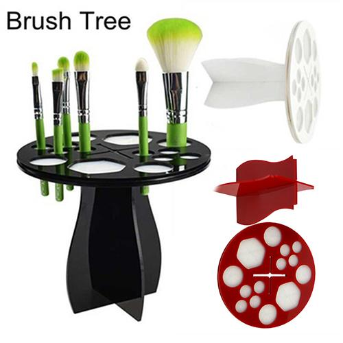 Practical Brush Drying Dryer Organizer Hanger Holder Makeup Cosmetic Stand Rack Simple Design, Many Holes And Will Make Your