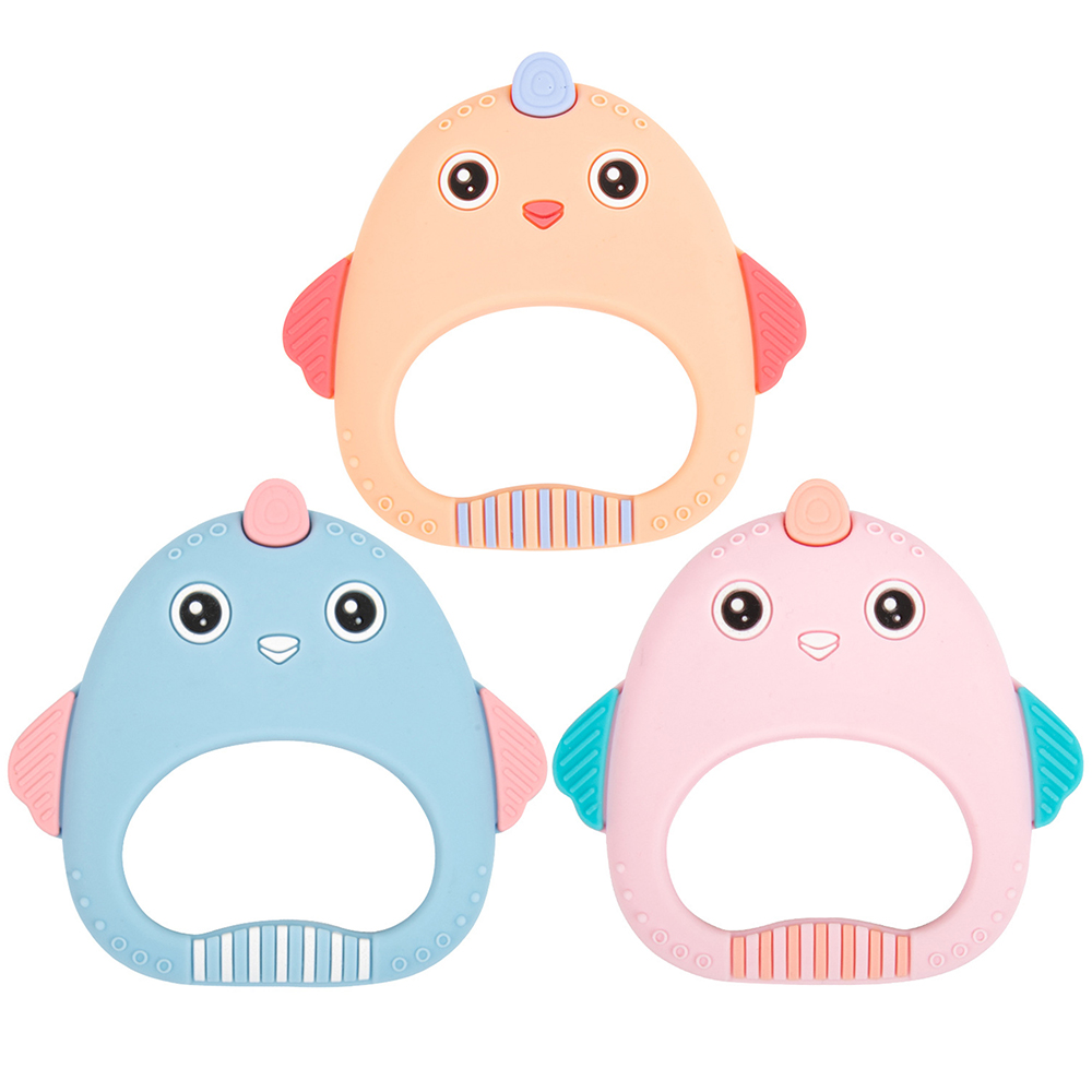 Baby Cartoon Teething Toys Silicone Teether  Safe And Non-toxic  Baby Child Teething Toys Child 0-12 Months Kids  Pacifier