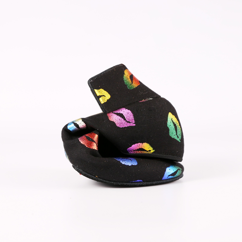 2019 New Women ballroom dance shoes BD Lip Print Teaching Shoes Heels for women Latin Salsa Dancing shoes Split Sole