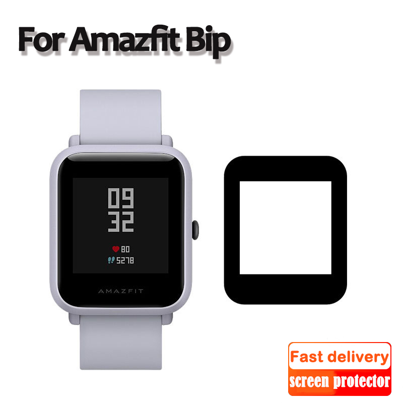 Slim Film For Huami Amazfit Bip Screen Protectors Case Fiberglass Ultra-thin Protective Film Full Cover TPU For Smart Watch