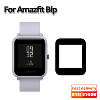 Película delgada para Huami Amazfit bip, protector de pantalla de fibra de vidrio, película protectora ultrafina, cubierta completa de TPU para reloj inteligente