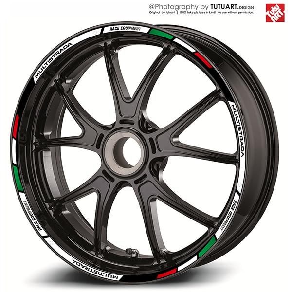 12PCS Custom Motorcycle Wheel Sticker stripe Reflective Rim For DUCATI MTS 821 959