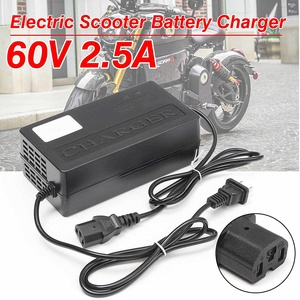 Image 2 - 60V 2.5Aเอาต์พุตไฟฟ้าสกู๊ตเตอร์จักรยานE BIKEเครื่องชาร์จแบตเตอรี่อะแดปเตอร์PCปลั๊ก