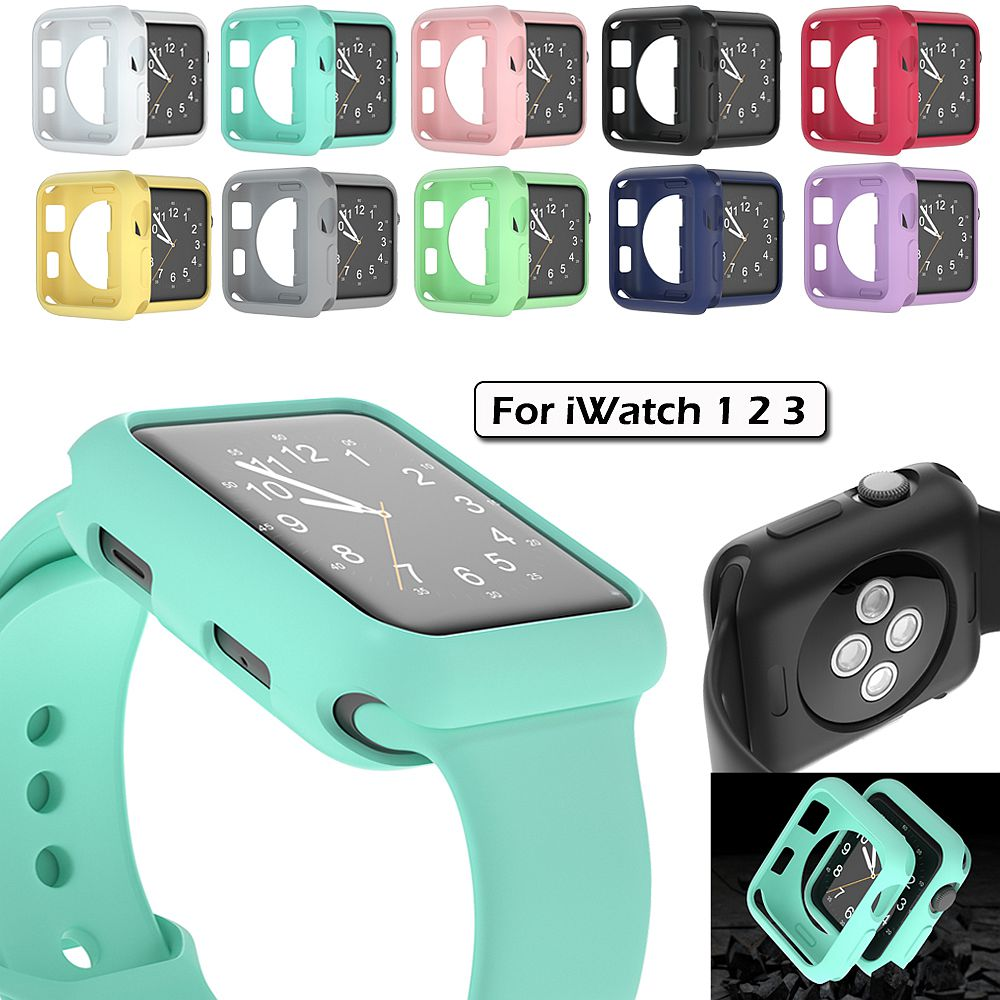 Protector Case Cover For Apple Watch 3 2 1 38MM 42MM Smartwatch 360 Clear TPU Cover Full Shell For Iwatch 3 2 1 38MM 42MM