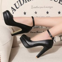 2020 new woman Pumps autumn thick heel shoes Ol high heeled shoes female the trend of ultra high heels female shoes U14 67