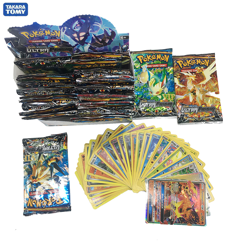 Takara Tomy Pokemon 324PCS GX EX MEGA Cover Card 3D Version SUN&MOON ULTRA PRISM Card Collectible Gift Children Toy