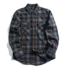 Oversized Black White Checked Leisure 100% Cotton Brushed Men Flannel Shirt Jackets Unisex Hip Hop