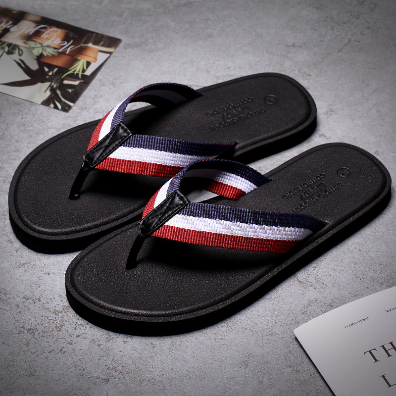 Summer Flip Flops Men's Personality Outside Wearing Beach Shoes Outdoor Pinch Couples Slippers Boy Tide Fashion Sandals
