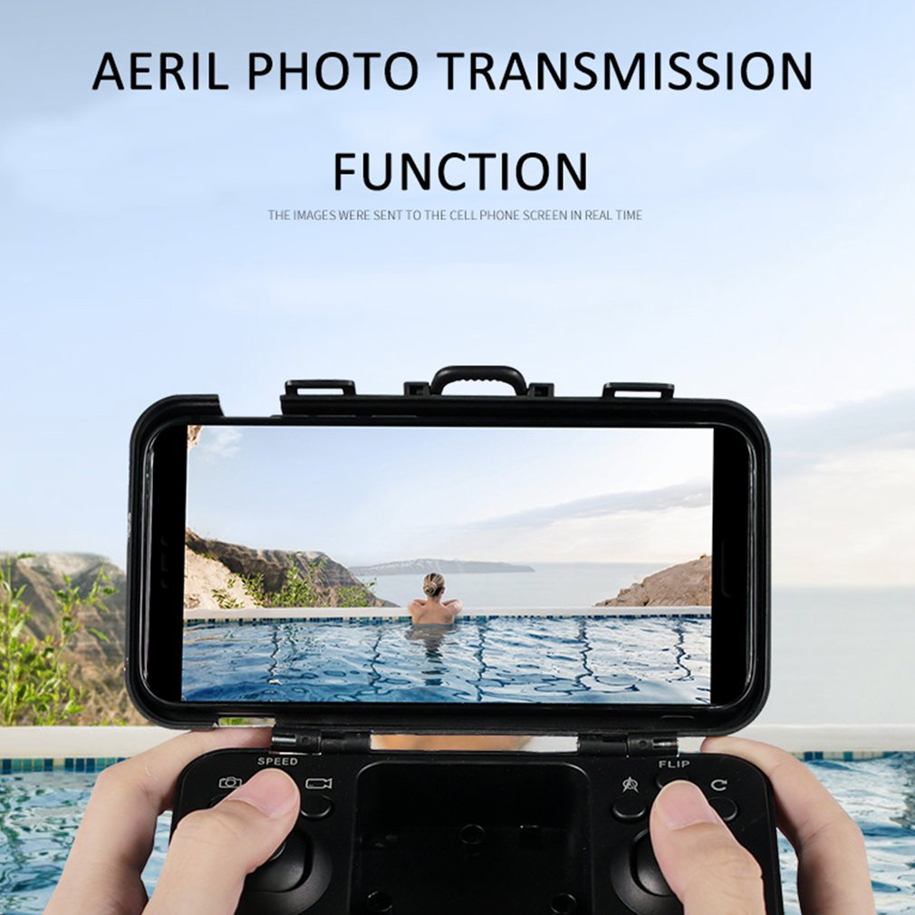 cheapest HJ28 Foldable RC Drone 4 Channels Wifi 2MP 5MP FPV Camera Drone Altitude Hold Gesture Photo Video RC Quadcopter