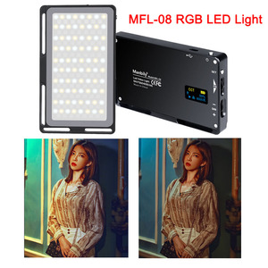 Image 1 - Manbily MFL 08 RGB LED Licht 2500 K 8500 K Lampe Dimmbare SZENE Studio Video Vlog Fotografie Beleuchtung für Youtube DSLR Kamera